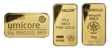 50g Gold Bars (Pre Owned)