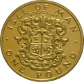 1986 Gold Proof £1 One Pound Manx Town Series - Douglas