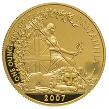 2007 One Ounce Proof Britannia Gold Coin