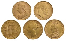 10 x Gold Sovereign Portrait Set Gift Boxed
