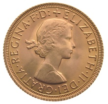 1957 Gold Sovereign - Elizabeth II Young Head