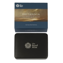 2019 Britannia Proof One Ounce Silver Coin Boxed