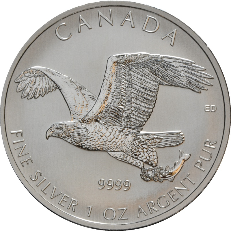 2014 1oz Canadian Sea Eagle Silver Coin