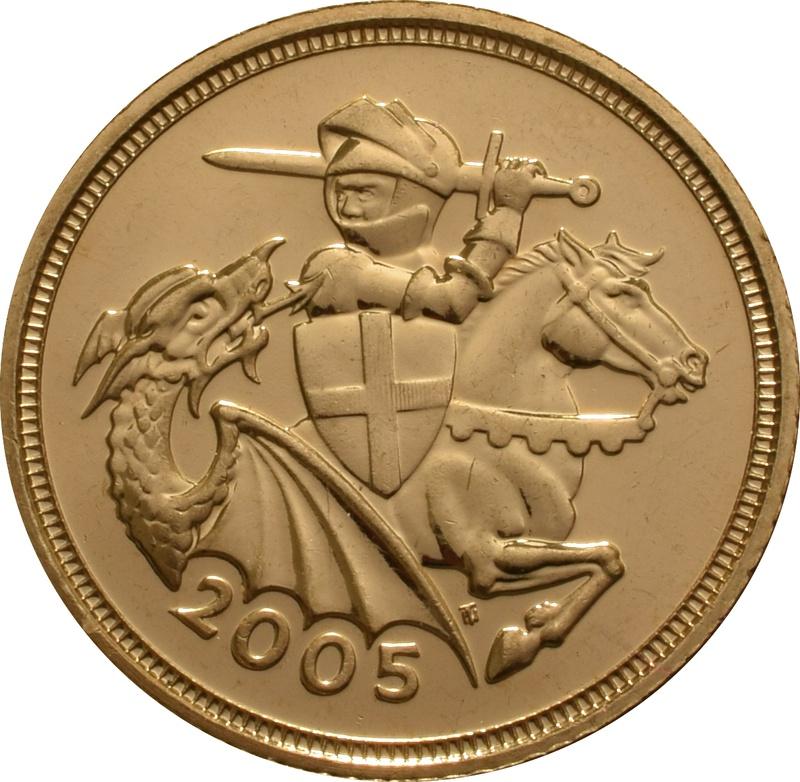 2005 Gold Half Sovereign Elizabeth II Fourth Head