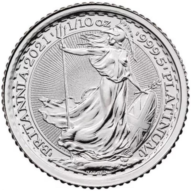 2021 Tenth Ounce Platinum Britannia Coin