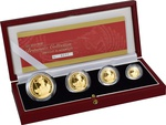 2002 Proof Britannia Gold 4-Coin Set Boxed