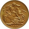 1921 Gold Sovereign - King George V - P