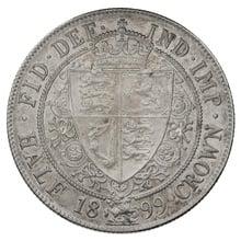 1899 Queen Victoria Silver Halfcrown