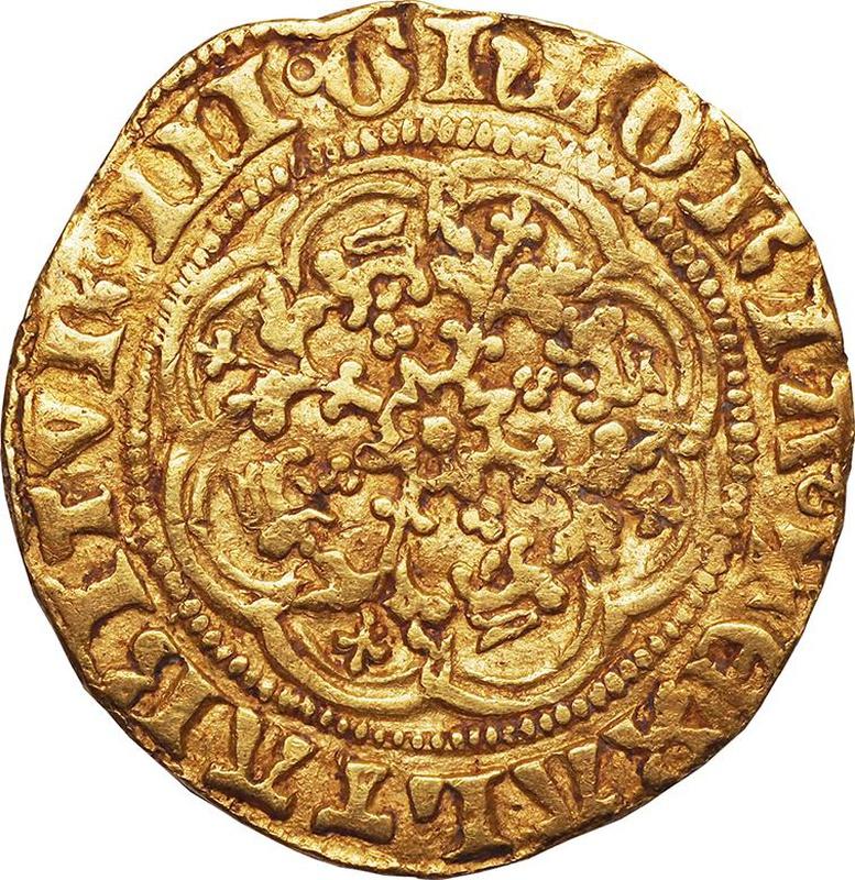 Edward III Gold Quarter Noble - Fine