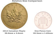 2014 1oz Canadian Maple Gold Coin