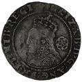 1593 Elizabeth I Silver Sixpence mm Tun