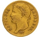 1812 20 French Francs - Napoleon (I) Laureate Head - W