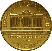 2014 1oz Austrian Gold Philharmonic Coin