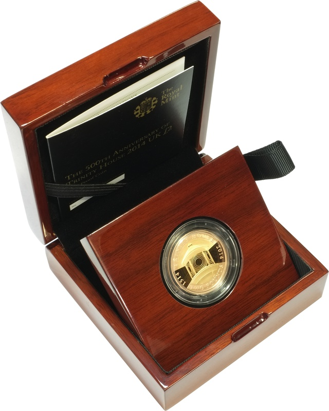 2014 £2 Two Pound Proof Gold Coin 500th Ann. Trinity House Boxed