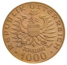 Austrian 1000 Schilling Gold Coin - 1976 Babenberger