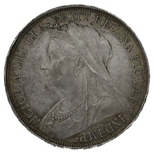 1895 LVIII Queen Victoria Silver Crown