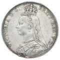 1889 Queen Victoria Silver Crown - Good Fine