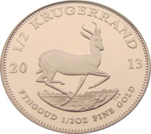 2013 Proof Half Ounce Krugerrand Gold Coin