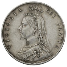 1891 Queen Victoria Silver Milled Halfcrown