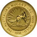1991 Quarter Ounce Gold Australian Nugget
