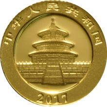 2017 1 Gram Gold Chinese Panda Coin