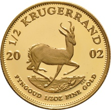 2002 Proof Half Ounce Krugerrand Gold Coin