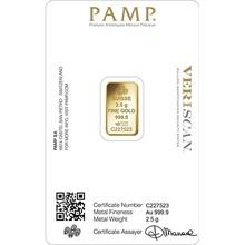 PAMP Rosa 2.5 Gram Gold Bar Minted