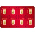 PAMP Gold Multigram+8 Bar Minted Dog