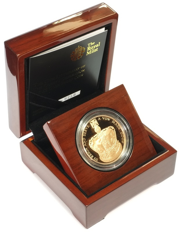 2013 - Gold £5 Proof Crown, 60th Anniversary of the Queen's Coronation Boxed