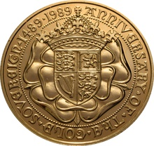 1989 - Gold £5 Brilliant Uncirculated Coin 500th Anniversary