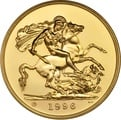 1996 - Gold £5 Brilliant Uncirculated Coin