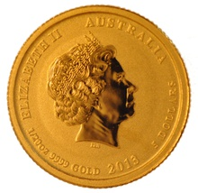 2013 Twentieth Ounce Year of the Snake Gold Coin