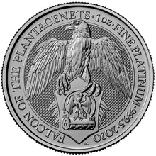 2020 1oz Platinum Coin, The Falcon of the Plantagenets - Queen's Beast Gift Boxed