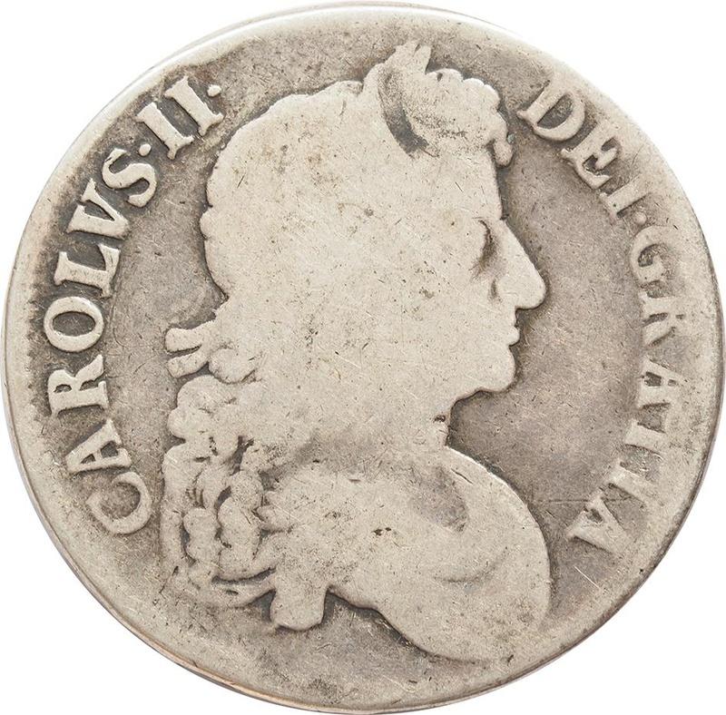 1672 Charles II Silver Crown