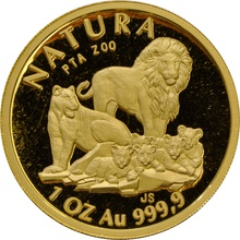 1994 One Ounce Natura Gold Coin Lion