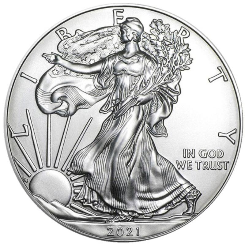 2021 1oz American Eagle Silver Coin