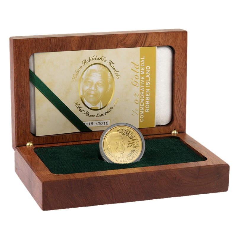 2009 Nelson Mandela 1/2oz Gold Medal Robben Island