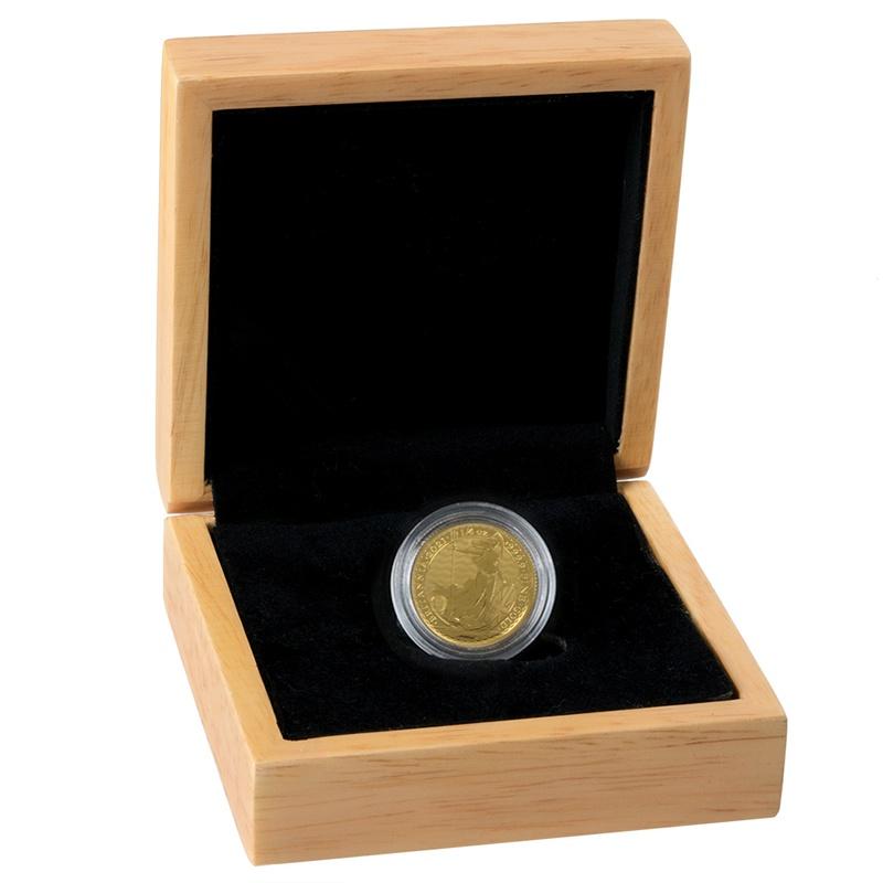 2021 Quarter Ounce Britannia Gold Coin Gift Boxed