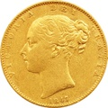 1847 Victoria Young Head Gold Sovereign