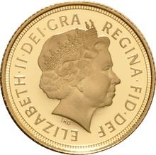 2013 Gold Half Sovereign Elizabeth II Fourth Head Proof