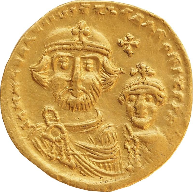 610-641 AD Heraclius Gold Solidus Constantinople