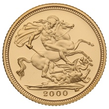 Gold Proof 2000 Half Sovereign Boxed