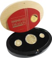 Three Coin proof Set Australian Lunar Year of the Dragon 2012 Boxed