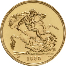 1985 - Gold £5 Brilliant Uncirculated Coin Boxed