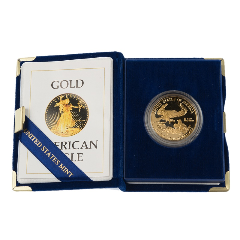 1986 American Eagle Proof One Ounce Gold Coin MCMLXXXVI Boxed