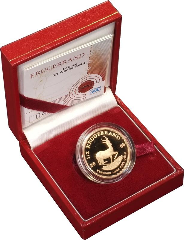 2008 1/2oz Gold Proof Krugerrand - Boxed