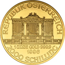1996 1oz Austrian Gold Philharmonic Coin
