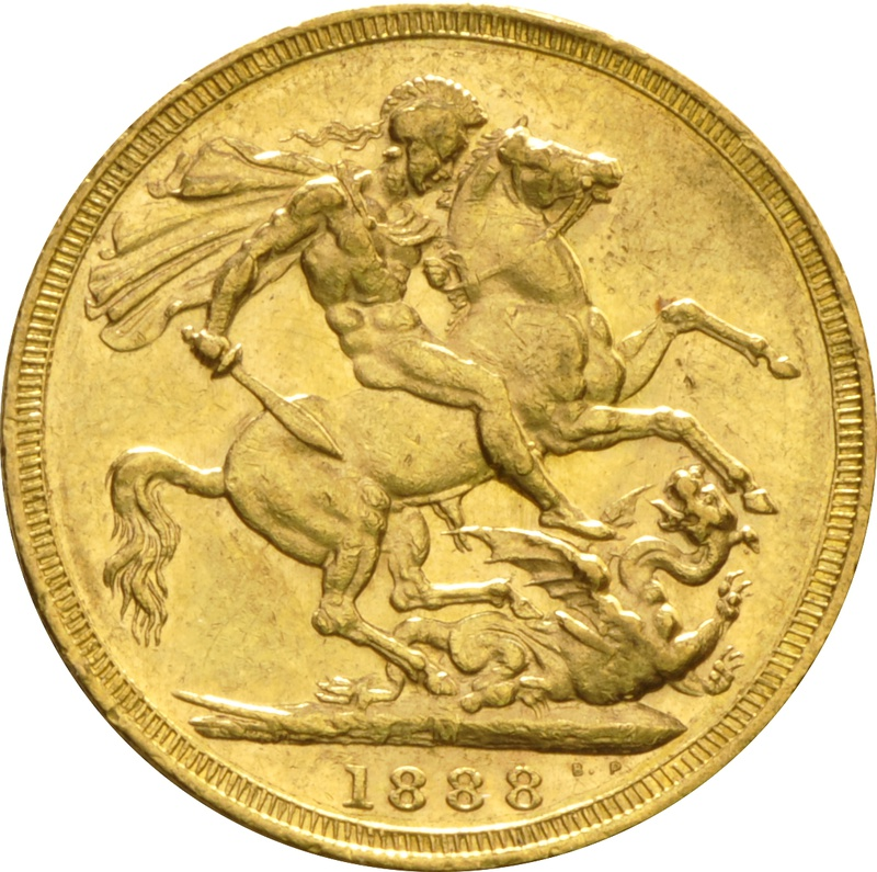 1888 Gold Sovereign - Victoria Jubilee Head - M