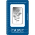 PAMP Rosa 1oz Silver Bar Minted