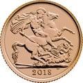 2018 Gold Half Sovereign Elizabeth II Fifth Head